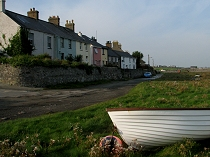 Cottages on the riverside at Aberffraw