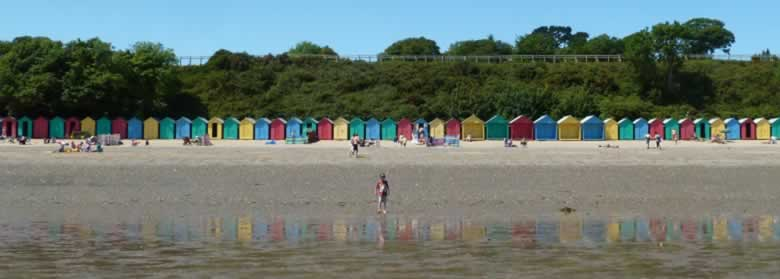 Colourful Beach Huts Llanbedrog