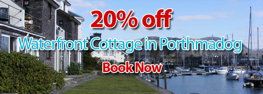 20% Off - Waterfront Cottage in Porthmadog