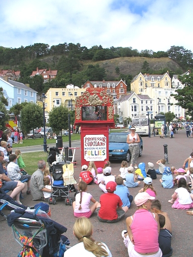Punch and Judy on the promenade Llandudno