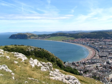 A walk up the Orme to see the fantastic views of the Bay