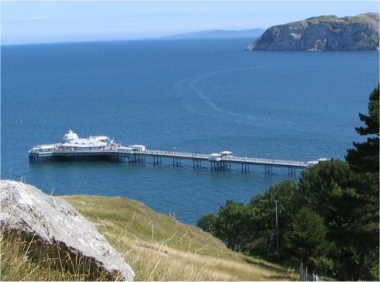 Llandudno pier from the Great Orme